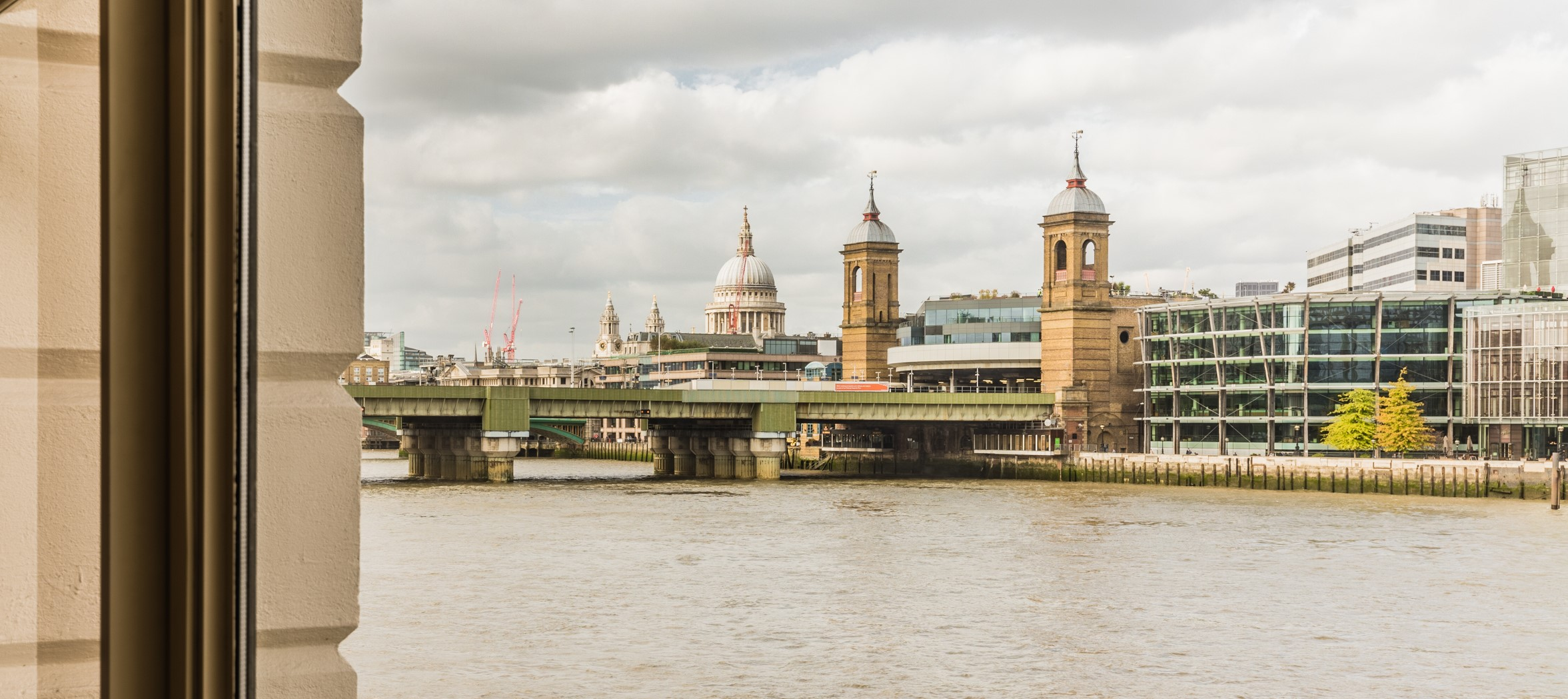 view of blackfriars and the City of London